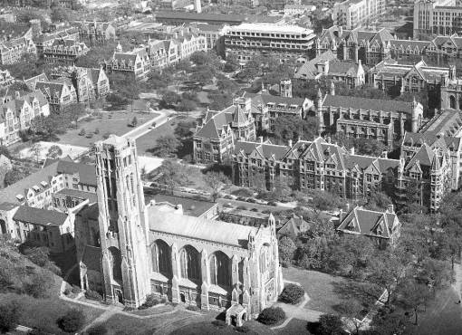 photo-chicago-university-of-chicago-aerial-rockefeller-chapel-in-foreground-1947
