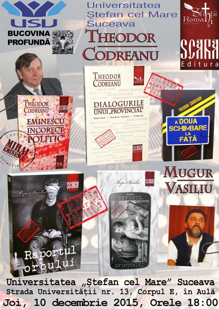 Afiș lansare de carte Suceava (dec 2015)
