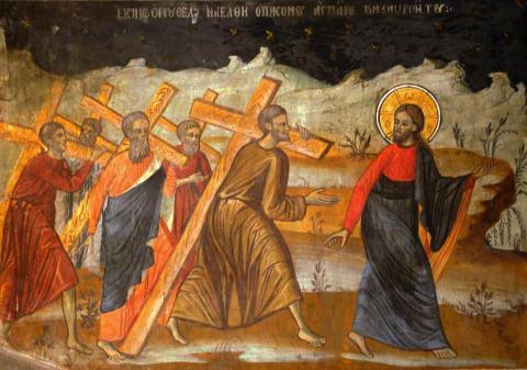 Duminica dupa Inaltarea Sfintei Cruci (Luarea Crucii si urmarea lui Hristos)